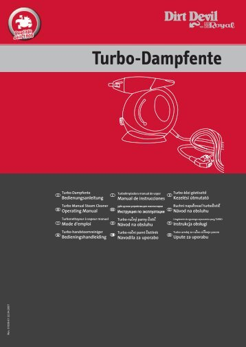 Dirt Devil Turbo Dampfente - Bedienungsanleitung Dirt Devil Turbo Dampfente M355