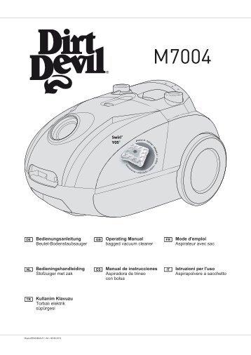 Dirt Devil Beutelstaubsauger M7004 - Bedienungsanleitung Dirt Devil M7004