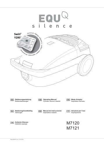 Dirt Devil EQU Silence - Bedienungsanleitung Dirt Devil EQU Silence M7120 M7121 M7123