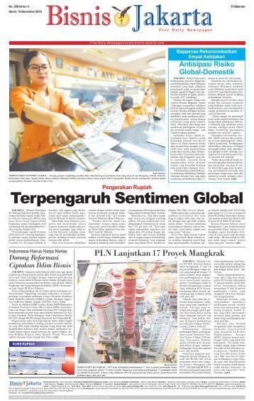 Bisnis Jakarta 14 November 2016