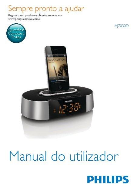 Philips Radio-réveil pour iPod/iPhone - Mode d'emploi - POR