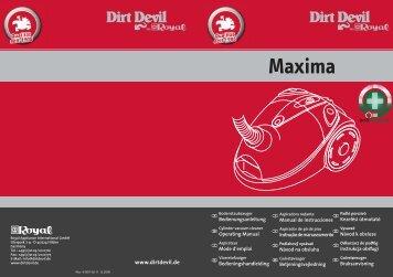 Dirt Devil Maxima - M8424_Maxima_Antiinfective_WebIM_20061211.pdf