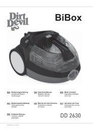 Dirt Devil Bibox - Bedienungsanleitung für den Dirt Devil Bibox DD2630-1, -2, -3