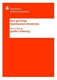 günstige Sparkassen-Girokonto - Sparkasse Amberg-Sulzbach
