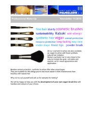 Vegan brushes with finest synthetic natural hair imitation