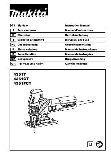 Makita SEGHETTO ALTERNATIVO - 4351TJ - Manuale Istruzioni