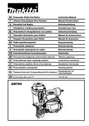 Makita CHIODATRICE ADN ARIA COMPRESSA - AN760 - Manuale Istruzioni