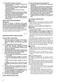 Makita ASPIRATORE SOFFIATORE - BVC350Z - Manuale Istruzioni - Page 6