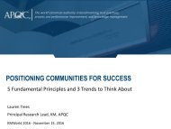 POSITIONING COMMUNITIES FOR SUCCESS