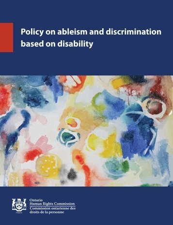Policy on ableism and discrimination based on disability