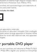 Philips Lecteur de DVD portable - Mode d'emploi - ENG - Page 6