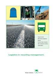 Logistics in recycling management. - AGR Unternehmensgruppe