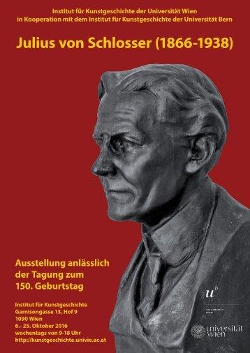 Julius von Schlosser (1866-1938)