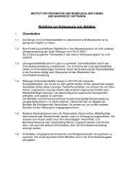 Richtlinie zur Entsorgung von Abfällen Chemikalien