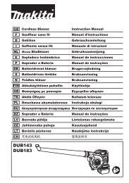 Makita SOFFIATORE ASPIRATORE - DUB183Z - Manuale Istruzioni
