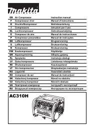 Makita COMPRESSORE AD ALTA PRESSIONE - AC310H - Manuale Istruzioni