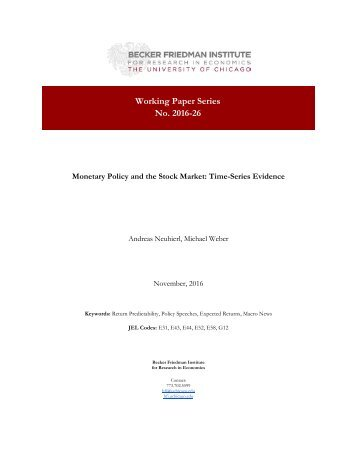Working Paper Series No 2016-26