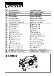 Makita COMPRESSORE AD ALTA PRESSIONE - AC320H - Manuale Istruzioni