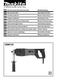 Makita CAROTATRICE - DBM130 - Manuale Istruzioni