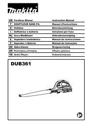 Makita SOFFIATORE 18Vx2 - DUB361Z - Manuale Istruzioni