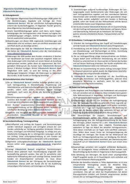 16-06-Allgemeine Geschäftsbedingungen der Videotechnik Bannert