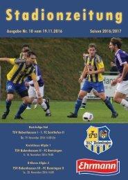 20161119 Stadionzeitung TSV Babenhausen - 1. FC Sonthofen