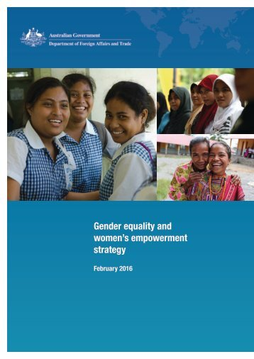 Gender equality and women's empowerment strategy