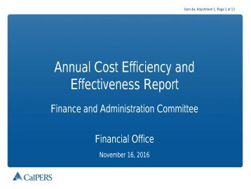 Annual Cost Efficiency and Effectiveness Report