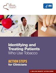 Identifying and Treating Patients Who Use Tobacco ACTION STEPS