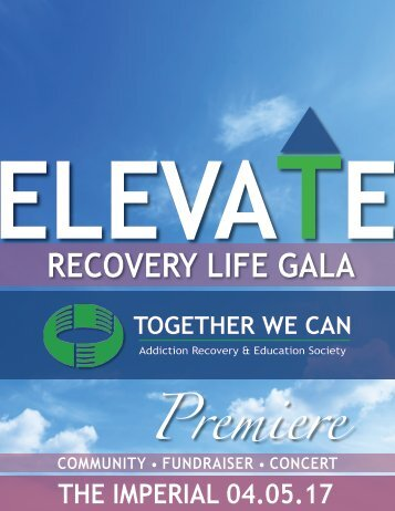 ELEVATE - TWC Recovery Life Gala - Sponsorship Package v1