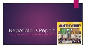 Negotiator's Report