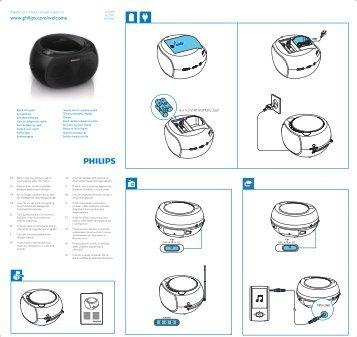 Philips Lecteur de CD - Guide de mise en route - ENG