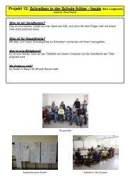 Projekt 12: Schreiben in der Schule früher - heute - Magister ...