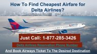 Book Air Ticket by Delta Airlines Booking Number at 1-877-285-3426