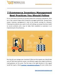 7 Ecommerce Inventory Management Best Practices You Should Follow