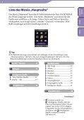 Sony NWZ-S639F - NWZ-S639F Istruzioni per l'uso Tedesco - Page 6