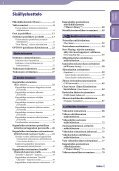 Sony NWZ-S639F - NWZ-S639F Istruzioni per l'uso Finlandese - Page 4