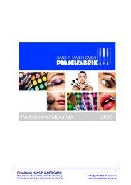 Professional Make-Up – Katalog 2016