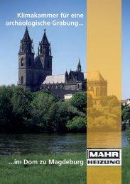 im Dom zu Magdeburg Klimakammer für eine  archäologische ...