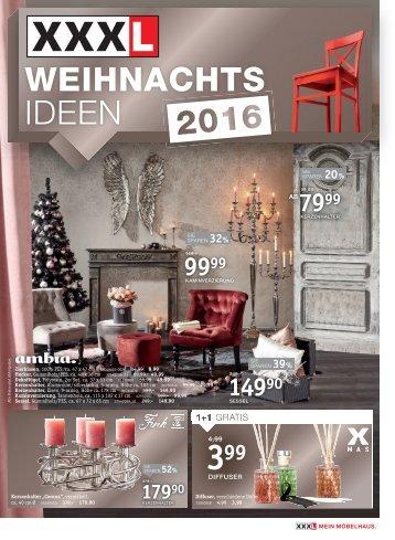 XXXLutz WEIHNACHTS IDEEN bis 20.11.2016