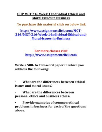 ethical and moral issues in business today