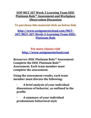 disc platinum rule assessment essay Needs assessment essay geriatric assessment family health assessment essay platinum rule disc assessment paper children's functional health pattern assessment.