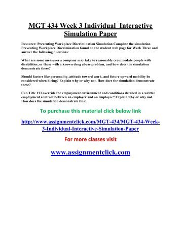 interactive simulation paper mgt 434 We will write a custom essay sample on interactive simulation paper specifically for you  retrieved from uop, mgt/434 website how to cite this page.