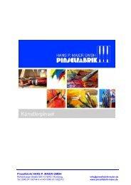 Künstlerpinsel – Katalog 2016