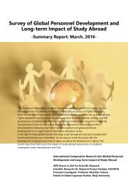 Survey of Global Personnel Development and Long-term Impact of Study Abroad
