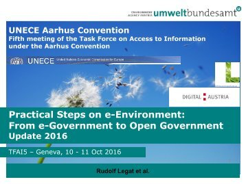 Practical Steps on e-Environment From e-Government to Open Government