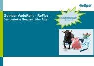 VarioRent ReFlex - Gothaer Makler-Portal
