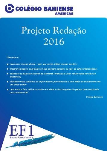 Projeto Redação 2016 - AME EF1