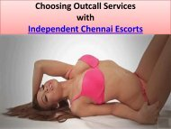 Chennai Escorts for Outcall Services