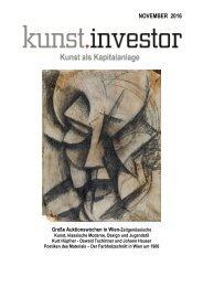 KUNSTINVESTOR- AUSGABE NOVEMBER 2016